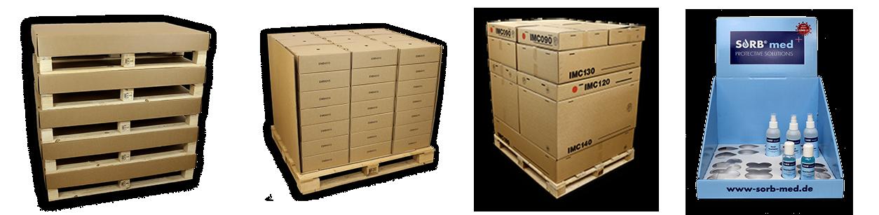 Transportverpackungen aus Schwerwellpappe